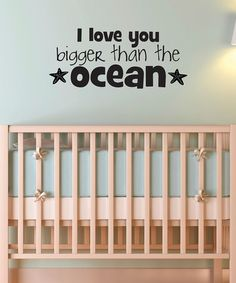 Take a look at this Black 'I Love You Bigger Than The Ocean' Wall Decal by Wallquotes.com by Belvedere Designs on #zulily today!