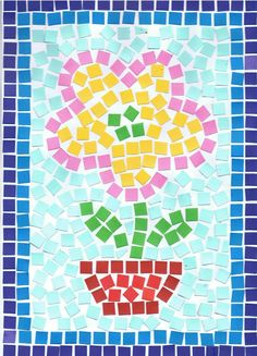 mozaïek - Google zoeken Paper Mosaic, Mosaic Diy, Painting For Kids, Art For Kids, Diy Arts And Crafts, Paper Crafts, Jr Art, Art Lessons Elementary, Spring Art