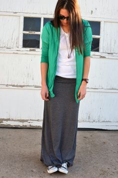 Casual maxi skirt @SWELL @To Adorn @Converse