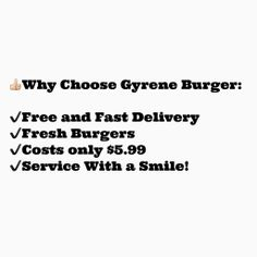 Why Choose Gyrene Burger?  www.GyreneBurger.com  865-281-5426  1927 Cumberland Avenue, Knoxville, TN 37916  Call Today For Pickup Or Delivery  Order Online Now ➡️ www.GyreneBurger.com
