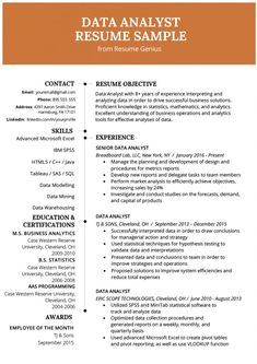 Business Analyst Resume Summary Examples New Data Analyst Resume Example & Writing Guide Resume Skills, Resume Tips, Best Resume, Job Resume, Resume Summary Examples, Professional Resume Examples, Cv Examples, Sales Resume, Entry Level Resume