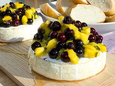 Planked Grilled Brie with a Blueberry Mango Salsa @blackpeppercrn