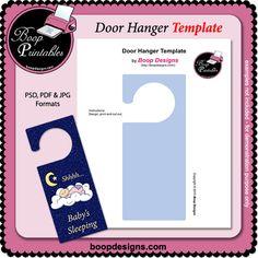 Door Hanger Sign TEMPLATE by Boop Printable Designs