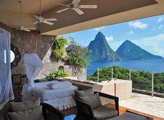 #JadeMountainResort provides stunning views of St. Lucia. // (c) 2014 TravelAge West #Caribbean