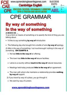 English idioms & Phrases BY WAY OF CAE CPE FCE Key word transformation gramática inglesa english grammar Key word transformation