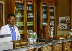 Old Pharmacy In Asmara, Eritrea by Eric Lafforgue, via Flickr   (like many in Addis Ababa)