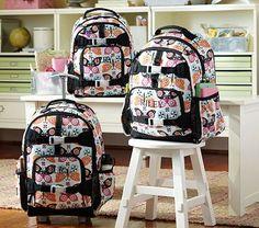 I love the Mackenzie Black Butterfly Backpacks on potterybarnkids.com
