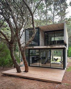 Lovely forest house! The H3 House is designed by Luciano Kruk and located in #MarAzul #Argentina // Photo by Daniela Mac Adden #restlessarch ____ #building #architexture #urban #design #industrial #town #street #house #designer #architecturelover #cities #modern #architectureporn #archidaily #composition #views #stone #archilovers #getaway #arquitectura #arquitetura #architecture #concrete #structure #forest #facade - Architecture and Home Decor - Bedroom - Bathroom - Kitchen And Living Room…
