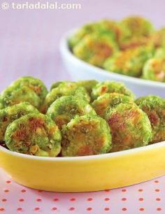 Potato Green Coins ( Recipe For Toddlers) recipe | by Tarla Dalal | Tarladalal.com | #36850