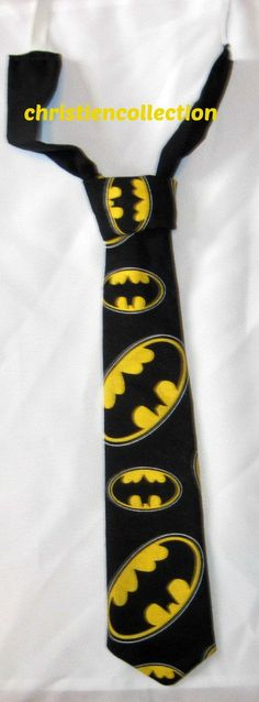 Check out this item in my Etsy shop https://www.etsy.com/listing/260524839/black-and-yellow-batman-tie-boy-tiesuper