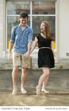 Le Roux & Chloë's Rainy-Romantic Engagement | | The Pretty Blog