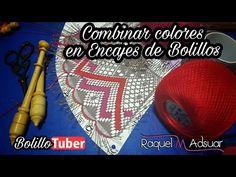 Combinar colores en encajes - Bolillotutorial Raquel M. Adsuar Bolillotuber - YouTube