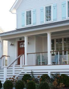 cable wire railing   House Exterior   Pinterest   Railings, Porch ...