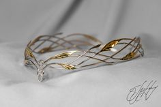 Wedding diadem - Bridal Elven Tiara - Elf Leaf Crown - bridal hair vine, Wedding Headpiece - bridal headband - Silver Bridal Tiara Catherine in 2019 Bridal Hair Vine, Bridal Crown, Bridal Tiara, Bridal Headpieces, Elvish Wedding, Gold Leaf Crown, Gold Wedding Crowns, Elven Princess, Gold Tiara