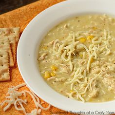 slow cooker green chile enchilada soup