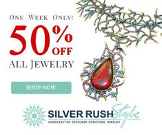 SilverRushStyle - BigJim's Info  SILVERRUSHSTYLE.COM - ONE WEEK ONLY ​- ALL JEWELRY 50% OFF All Blue Colors, Shop Now, Pendant Necklace, Gemstones, Silver, Jewelry, Design, Jewlery