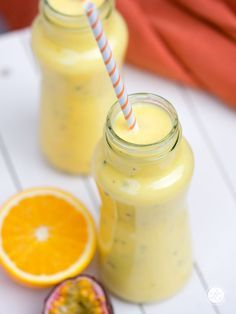 Smoothie-Montag 13: Mango-Maracuja-Orange Smoothie mit Kokosöl | feiertäglich…das schöne Leben
