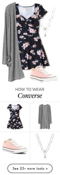 """Untitled #460"" by stilinskiismybatman on Polyvore featuring Hollister Co. and Converse"