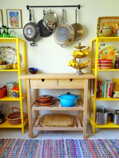 GypsyYaya- Boho Kitchen Pantry Upgrade | eclectic colorful kitchen | rental decor | adding kitchen storage | kitchen open shelving