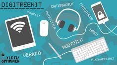 Digitaalisuus on kaikkialla: kouluissa, työpaikoilla ja kotona. Älylaitteet yleistyvät ja myös palvelut siirtyvät sähköisiksi, joten 2000-luvulla ei enää pärjää ilman digitaitoja. Yle Oppimisen Digitreenit auttaa: tee digitaitotesti, treenaa taitojasi ja helpota elämääsi. Electronics, Phone, House, Telephone, Mobile Phones, Consumer Electronics