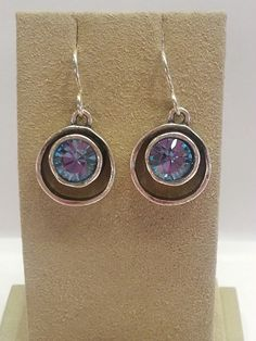Skeeball, Tanzanite Earrings by Patricia Locke