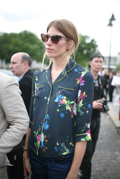 Paris Couture Week street style [Photo by Kuba Dabrowski] #style #fashion #floral
