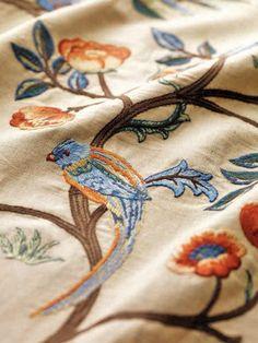 """""""Kelmscott tree"""" linen embroidery by Morris & Co"""