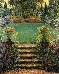 Garden Gerberoy 1931 ~ Henri Le Sidaner ~ (French 1862-1939)