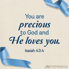 You are Precious You Are Precious, Biblical Inspiration, Christian Inspiration, Jesus Loves You, Bible Scriptures, Spiritual Quotes, Words Quotes, Sayings, Word Of God
