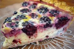 This Blackberry Pie is made with sour cream.  Lip smacking good!!