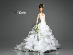 stibaliz, Real Bride Bouquet of flower Barbie Bridal, Barbie Wedding Dress, Barbie Gowns, Barbie Hair, Barbie Dress, Barbie Clothes, Bridal Dresses, Wedding Gowns, Barbie Mode