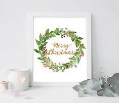 Merry Chistmas digital merry christmas printable merry
