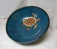Sea Turtle Vessel Sink by RikaBluePottery on Etsy, $425.00