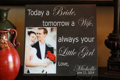 Parents THANK YOU Wedding Frame Mother of the by CreateItYourWay