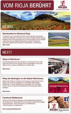 STREUPLAN | Agentur für integrierte Below the Line-Kommunikation: Die Onlinepräsenz von Rioja D.O.Ca. erweitert