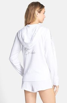 Betsey Johnson Lace Trim Bridal Hoodie available at #Nordstrom