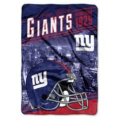 """NY Giants OFFICIAL National Football League, """"Stagger"""" 62""""x 90"""" Micro Raschel Throw by The Northwest Company"""