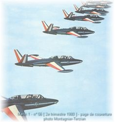 Patrouille de France on Fouga Magister