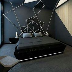 Bedroom Setup, Room Design Bedroom, Room Ideas Bedroom, Home Room Design, Home Decor Bedroom, Bedroom Wall, Black Bedroom Design, Dream Rooms, Luxurious Bedrooms