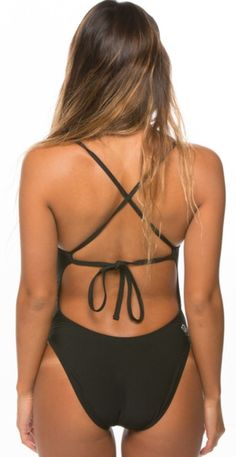 Jolyn Swimsuit- Jackson 2 Tie-back Onesie- Black