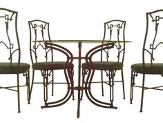 Chippendale Faux Bamboo BROWN JORDAN patio Dining Table Chair Hollywood Regency Dining Table Chairs, Patio Dining, Brown Jordan, Vintage Patio, Faux Bamboo, Hollywood Regency, Furniture Design, Retro, Garden