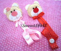 ♥♥♥ Os meus primeiros porta-chuchas... by sweetfelt \ ideias em feltro