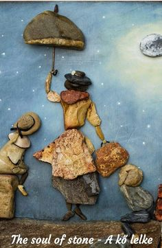 Stone Art Painting, Pebble Painting, Pebble Art, Seaside Art, Beach Art, Stone Crafts, Rock Crafts, Driftwood Sculpture, Rock And Pebbles