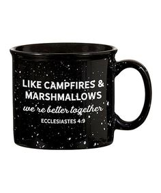 Christian Brands Better Together Camp Mug Campfire Marshmallows, Inspirational Phrases, Ecclesiastes, Better Together, Happy Campers, Go Camping, Drinkware, Coffee Cups, Glass