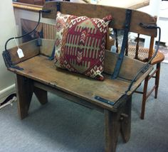 we absolutely love this antique buggy bench that was made from an actual buggy seat!