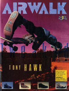 Tony Hawk - Airwalk ad - 1988