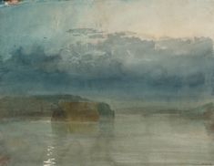 Turner hulks on tamar twilight-1813 gouache-and-watercolour-on-paper