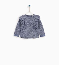ZARA - KIDS - FRILLED T-SHIRT WITH TEXTURED WEAVE