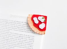 Bookmarks – Felt pizza corner bookmark, school gift idea – a unique product by…