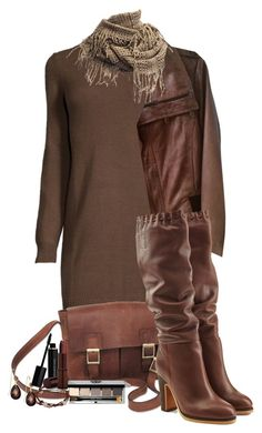 """""""Brown"""" by marionmeyer ❤ liked on Polyvore featuring NOVICA, Bobbi Brown Cosmetics, Chan Luu, Kenneth Cole, See by Chloé, Elizabeth Arden, Fashion Fair, Kate Marie and brown"""